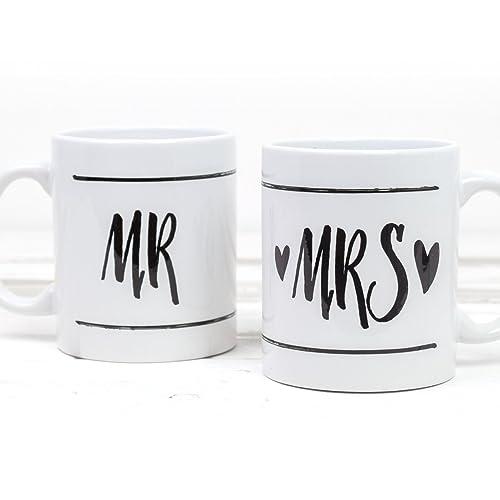 Mr Und Mrs Tassen Set Geschenk Hochzeit Verlobungsgeschenk