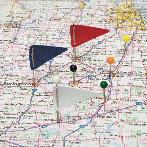 GEM: cabeza de plástico triangular mapa banderas, acero 1