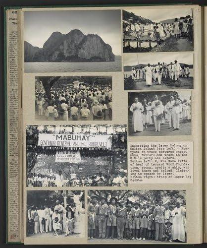 Eleanor B Roosevelt,camera,leper colony,Culion Island,Philippines,L Wood,1932