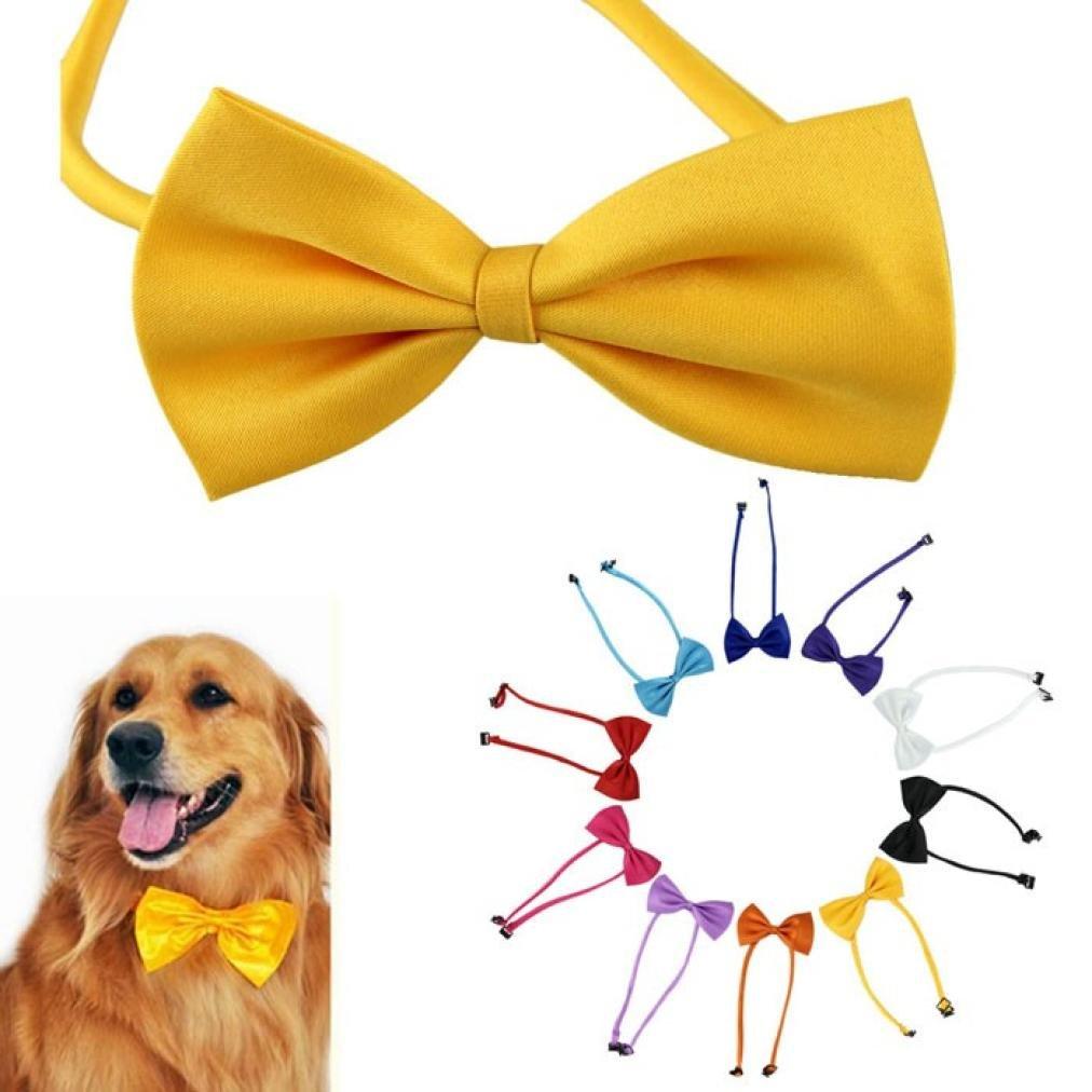 Voberry 1pcs RandomColor Dog Neck Tie Dog Bow Tie Cat Tie Pet Grooming Supplies Pet Headdress
