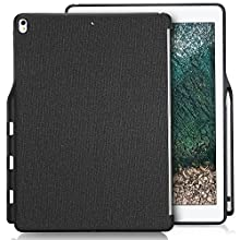 ProCase iPad Pro 12.9 2017/2015 Companion Back Cover Case, with Apple Pencil Holder for iPad Pro 12.9 Inch (Both 2017 and 2015 Models), Match for Apple Smart Keyboard and Smart Cover –Black