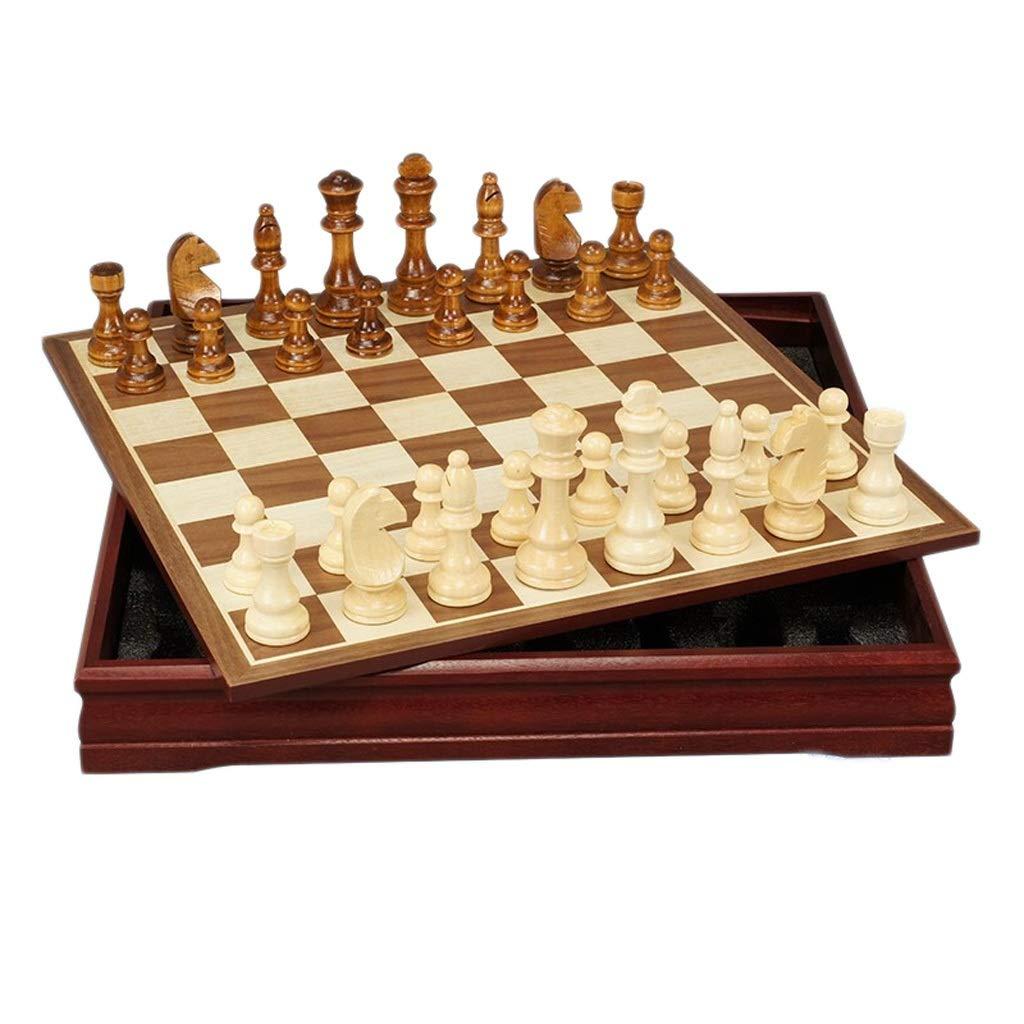 alta calidad Wood 30304cm LH's stores Ajedrez Ajedrez Tablero Tablero Tablero de ajedrez de Madera Pieza de ajedrez de Madera Creativa Niños Desarrollo Intelectual Aprender Juguetes Almacenamiento Damas Ajedrez Tablero de Ajedrez  barato y de alta calidad