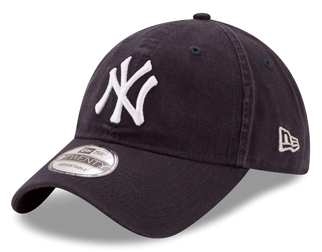 586c4a7b Amazon.com: New Era New York Yankees 9Twenty MLB Core Classic Adjustable Hat  - Navy: Clothing