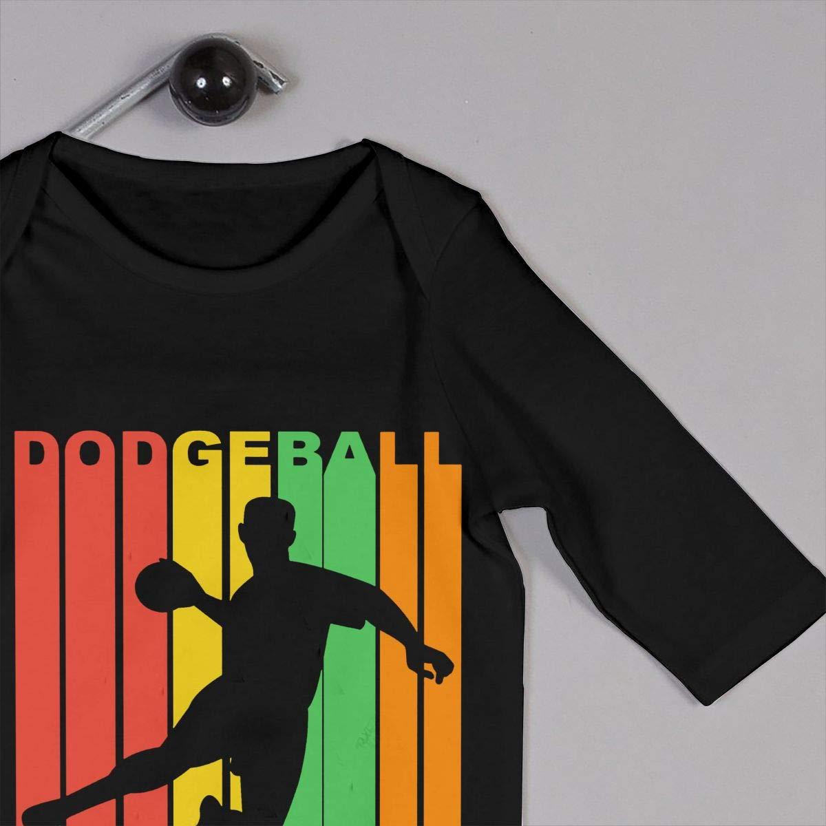 Mri-le1 Toddler Baby Boy Girl Bodysuits Dodgeball Legend Infant Long Sleeve Romper Jumpsuit