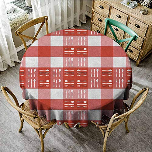 Rank-T Round Tablecloth Black Floral 43