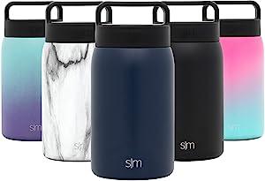 Simple Modern 24oz Provision Food Jar with Handle Lid - Vacuum Insulated 18/8 Stainless Steel Leak Proof Kid's Food Storage Container Flask - Deep Ocean