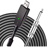 USB Guitar Cable,YESPURE Guitar Bass to USB Link Connection Cable Adapter,Professional Guitar to PC USB Link Recording Cable