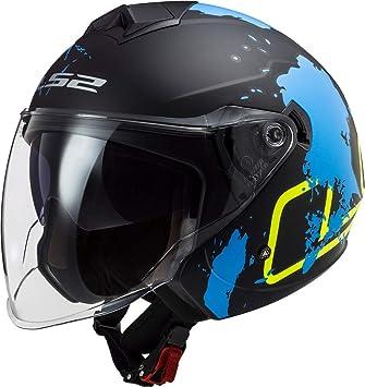 Ls2 Motorradhelm Of573 Twister Ii Xover Matt Black Blue Schwarz Blau Gelb M Auto
