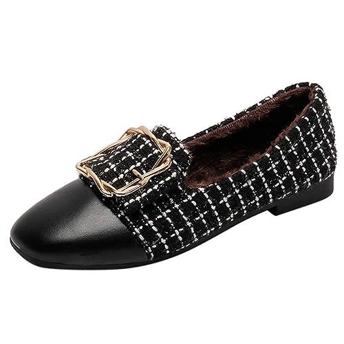 Mocasines Mujer Zapatillas Planos Zapato Slip on Cómodo Slipper Casual Loafers Primavera Verano Zapatos de Cordones: Amazon.es: Zapatos y complementos