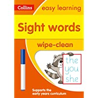 Sight Words Age 3-5 Wipe Clean Activity Book (Collins Easy Learning Preschool)
