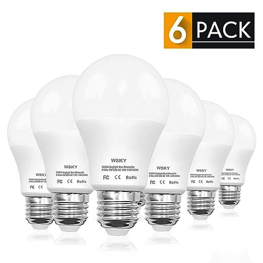 Wsky Bombilla LED, 80 W, equivalente a A19, luz de día ...