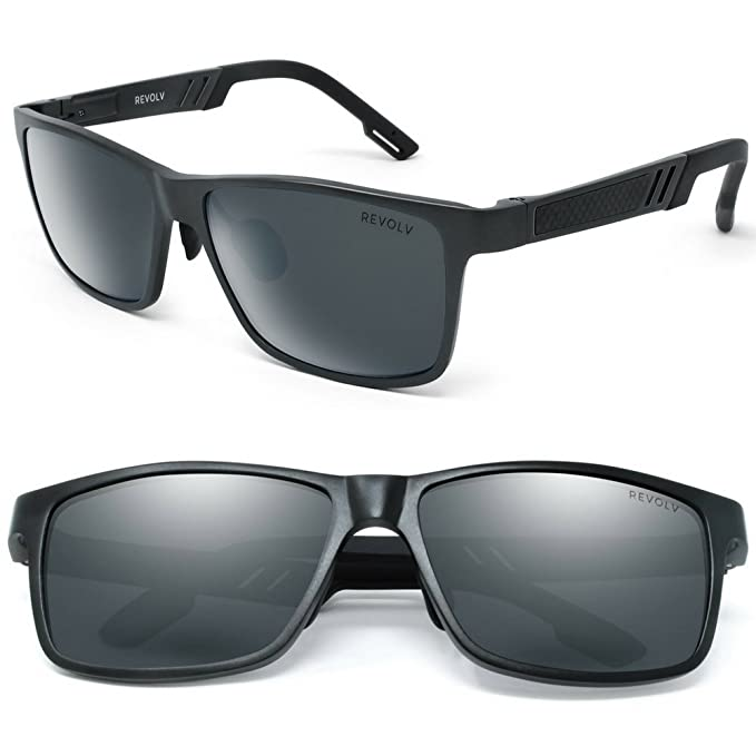 814a837471 Polarized Men's Sunglasses with Adjustable Aluminum Frame 146mm for Medium  / Wide Faces (Matte Black Frame / Black Smoke Lens) at Amazon Men's  Clothing ...