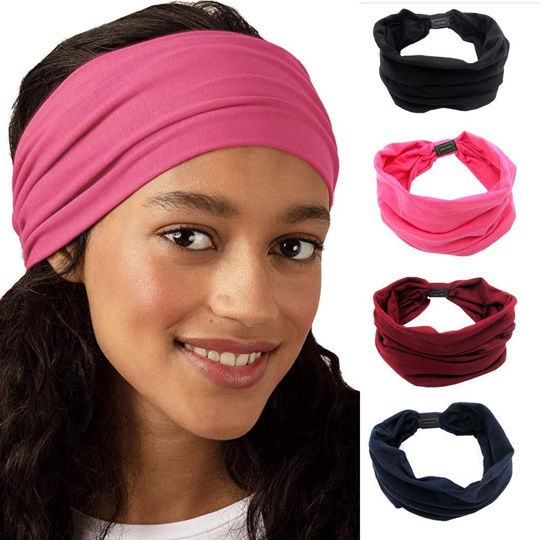 Details about  /Headband With Face Cover Yoga Running Sport Hair Band