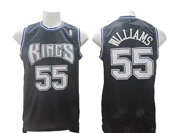 promo code 6a0dc c8d13 Men's Sacramento Kings Jason Williams #55 Jersey Basketball ...
