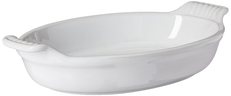 Le Creuset Heritage Stoneware 1-Quart Oval Au Gratin Dish, Cerise (Cherry Red) Le Creuset of America PG0400-2467
