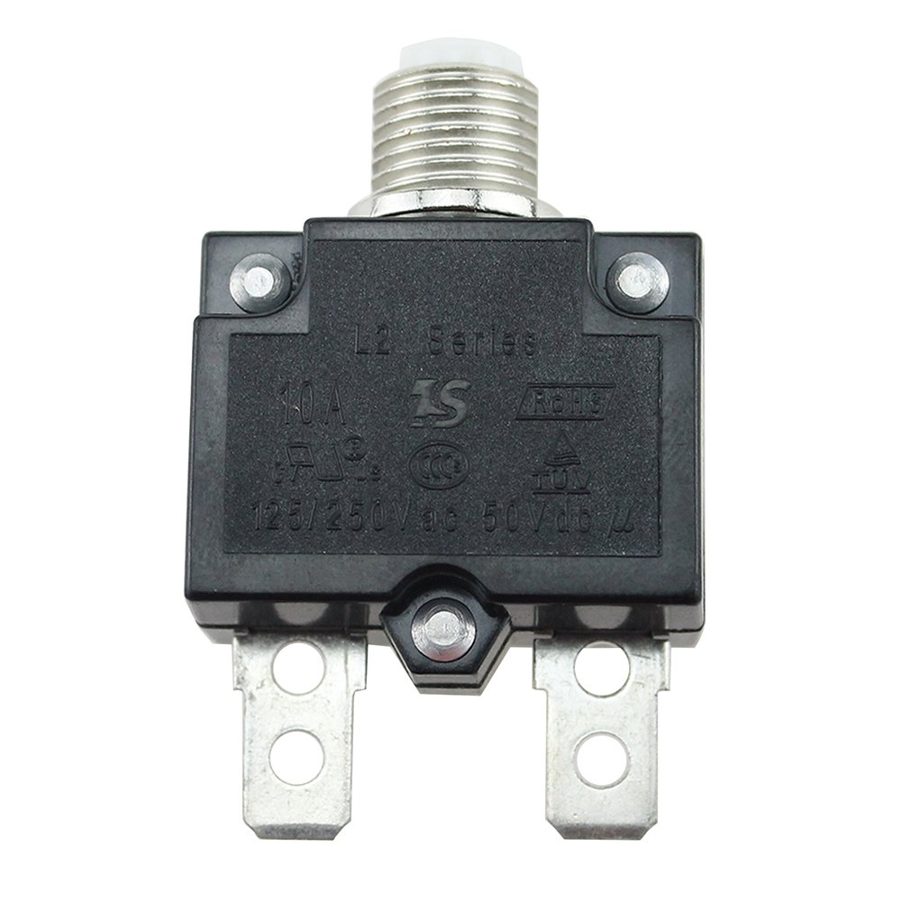 20A Circuit Breaker Panel Mount Air Switch Resettable Thermal Fuse Holder Inline Fuse Block for Car Audio Solar Inverter System Protection