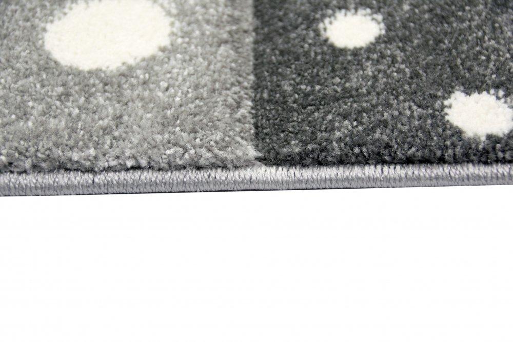 Kinderteppich Teppich Kinderzimmer Babyteppich Stern Mond in Blau T/ürkis Grau Creme Gr/ö/ße 80x150 cm
