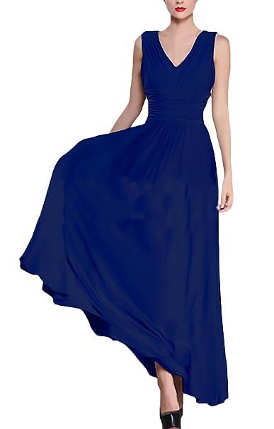 envio GRATIS a todo el mundo paquete elegante y resistente nueva Mujer Vestido Largo Fiesta Elegantes Sin Mangas de Regalos ...