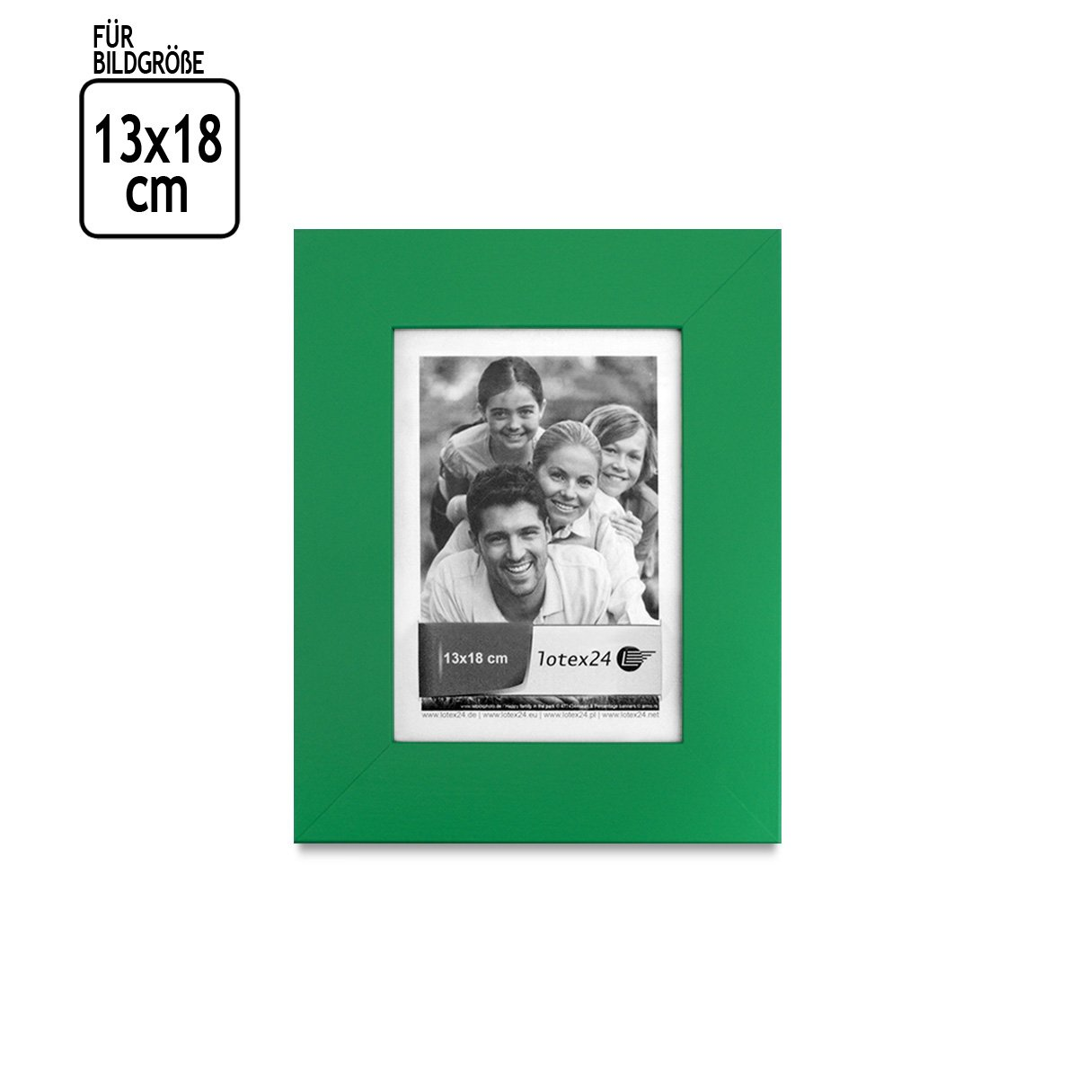 glatte Oberflächer Bilder Bilderrahmen Grün mit Glasscheibe 15 x 21 ...