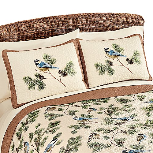 Woodland Pinecones Quilted Pillow Multi Colored