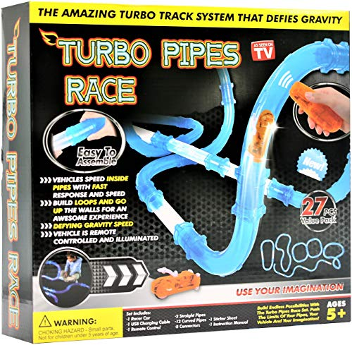 (As Seen On Tv Turbo Pipes Racing Set-27 Pieces)