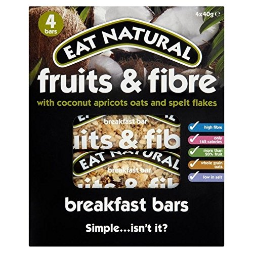 Eat Natural Fruit & Fibre Coconut Breakfast Bar 4 x 40g - Pack of 6