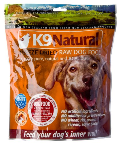 K9 Natural Freeze Dried Venison Raw Dog Food 1.1 Pound Bag, My Pet Supplies