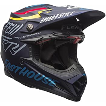 Bell Moto-9 Flex Off Road Motorcycle Helmet (Day in the dirt Dark Blue, Large) (Non-Current Graphic)