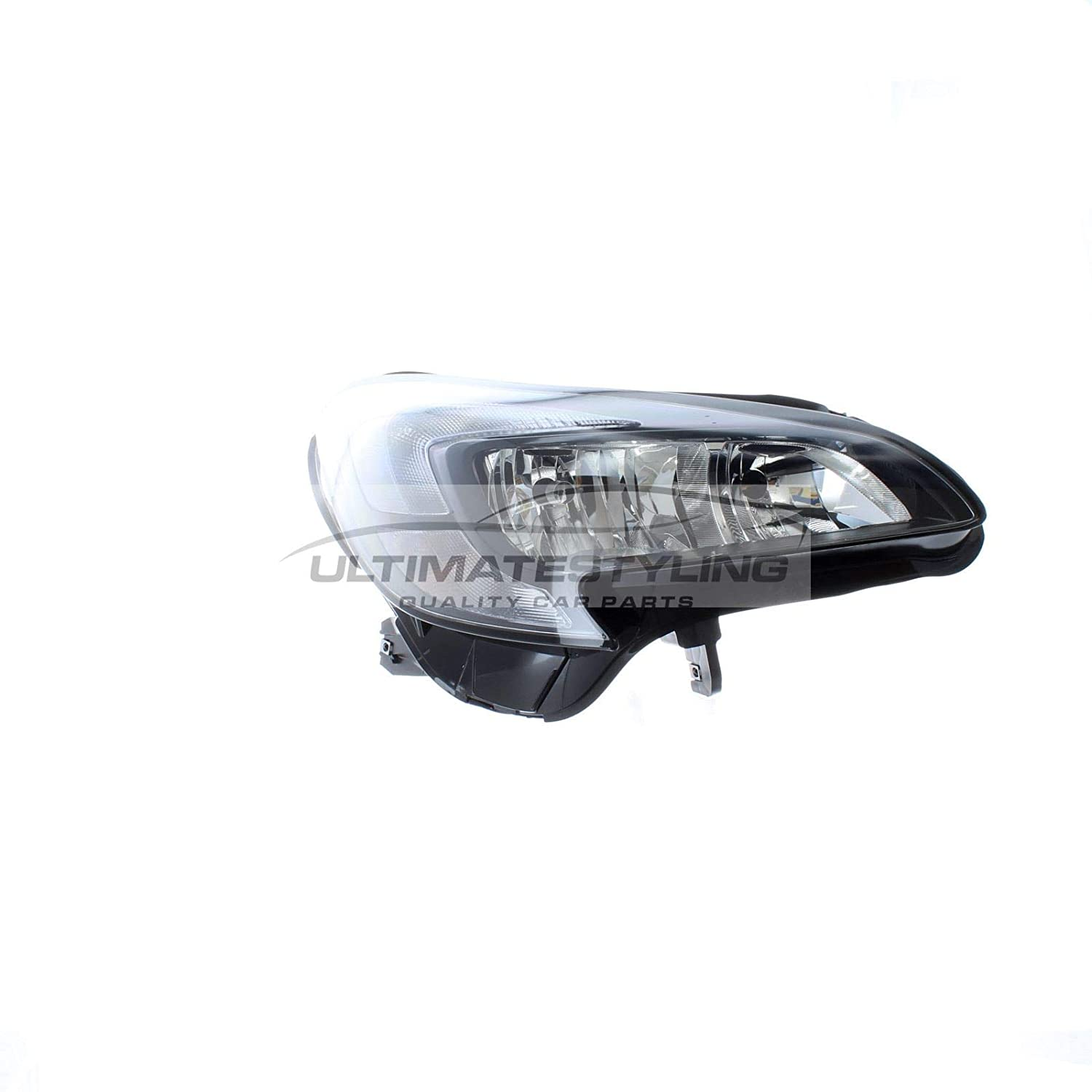 Ultimate Styling Electric Adjustment Halogen Headlights//Headlamps Without Load Level Motor Drivers /& Passenger Side Internal Colour Chrome Surround With Chrome Inner Bezel