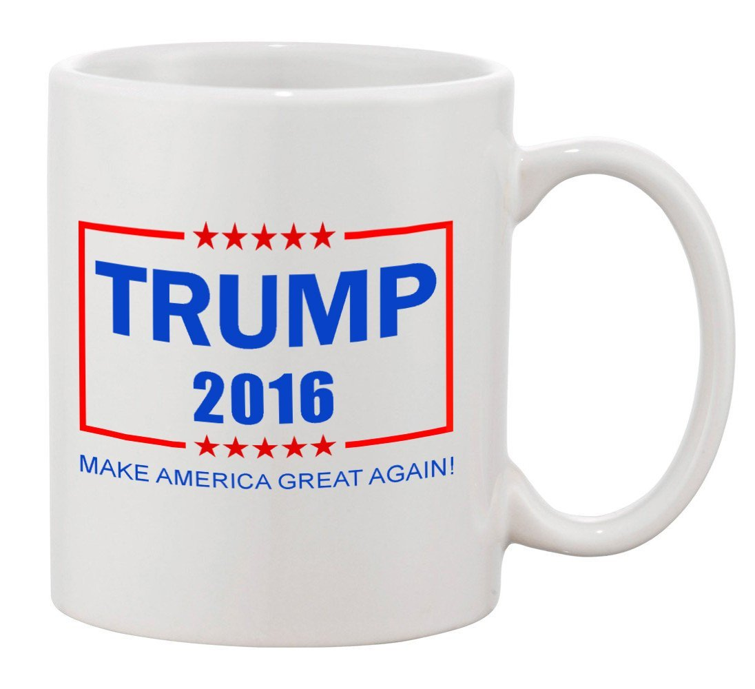 P&B ''Trump 16'' Make America Great Again Mug Gift Ceramic Tea Coffee Cup Mugs (11 oz.)
