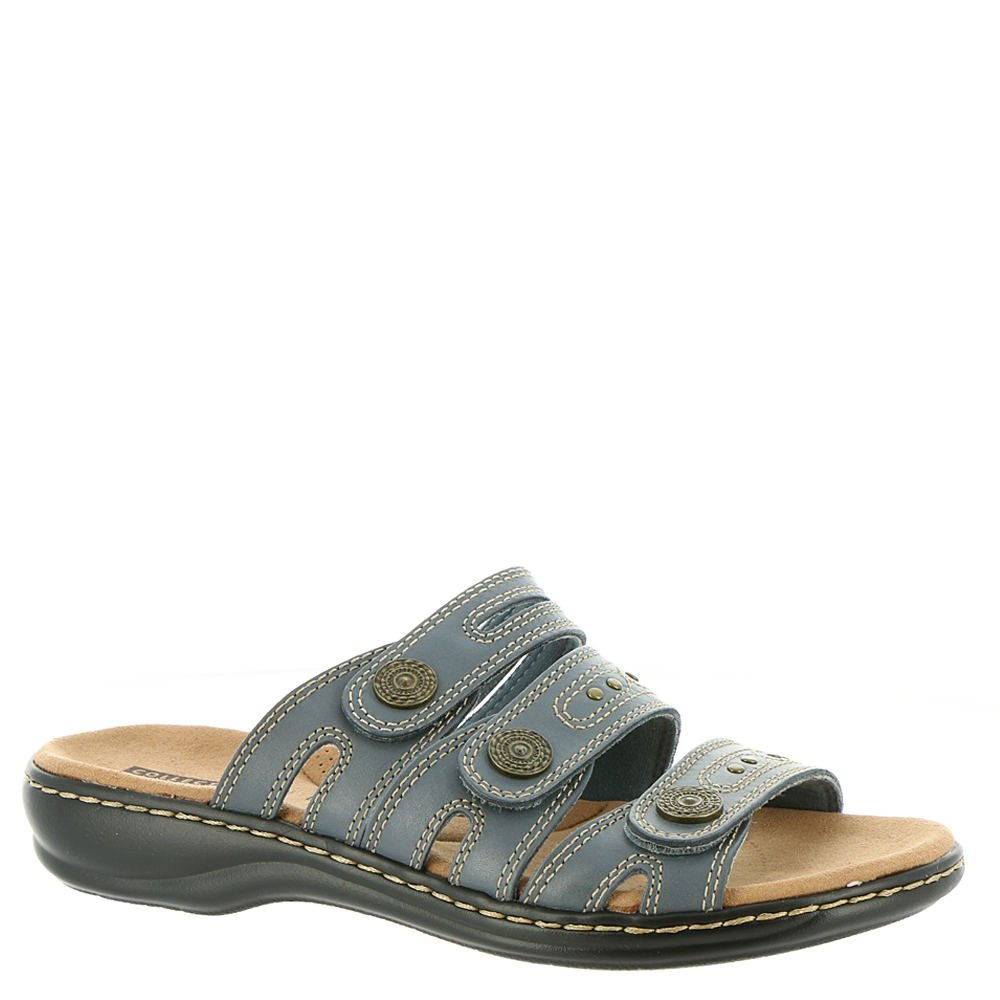 CLARKS Leisa Lakia Women's Sandal B078T1N46B 6.5 B(M) US|Blue Grey Leather