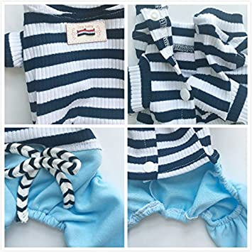 EastCities Dog Clothes for Small Dogs Pajamas Puppy Outfit