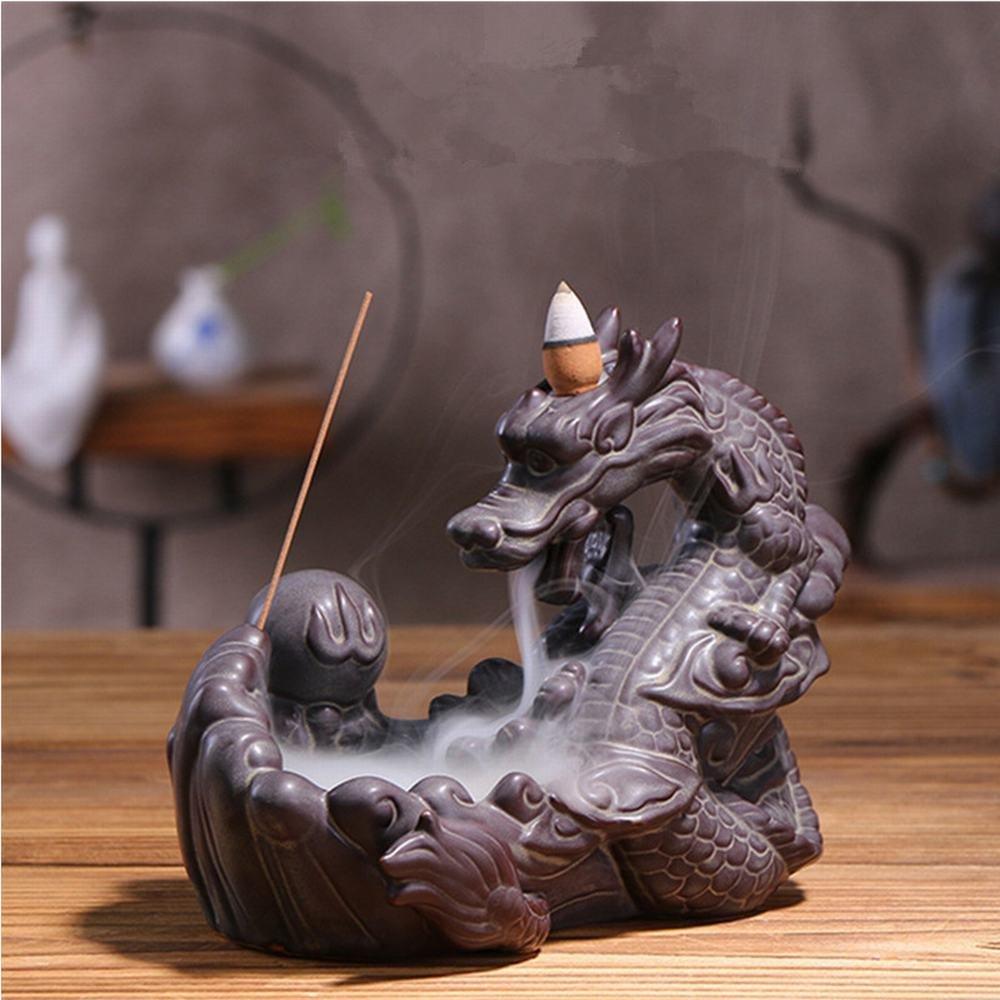 期間限定特別価格 セラミックドラゴン香炉お香ホルダーホームアクセサリーBackflow Ornaments Buddhist Buddhist Ornaments SuppliesアロマセラピーBurner B077NZFW7Q B077NZFW7Q, koreaVOCE:acd7947b --- aemmontagens.com.br