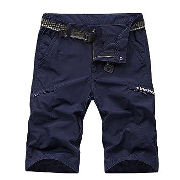 aa8591a5cf5f LHHMZ Herren Casual Cargo Shorts Freizeit Schnell trocken leicht zu Waschen  Wandern Kurze Schlank Hosen