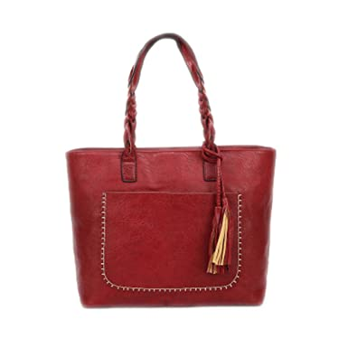e880c228 Large Capacity Women Bags Shoulder Tote Bags Bolsos Women Messenger Bags  With Tassel Famous Designers Leather