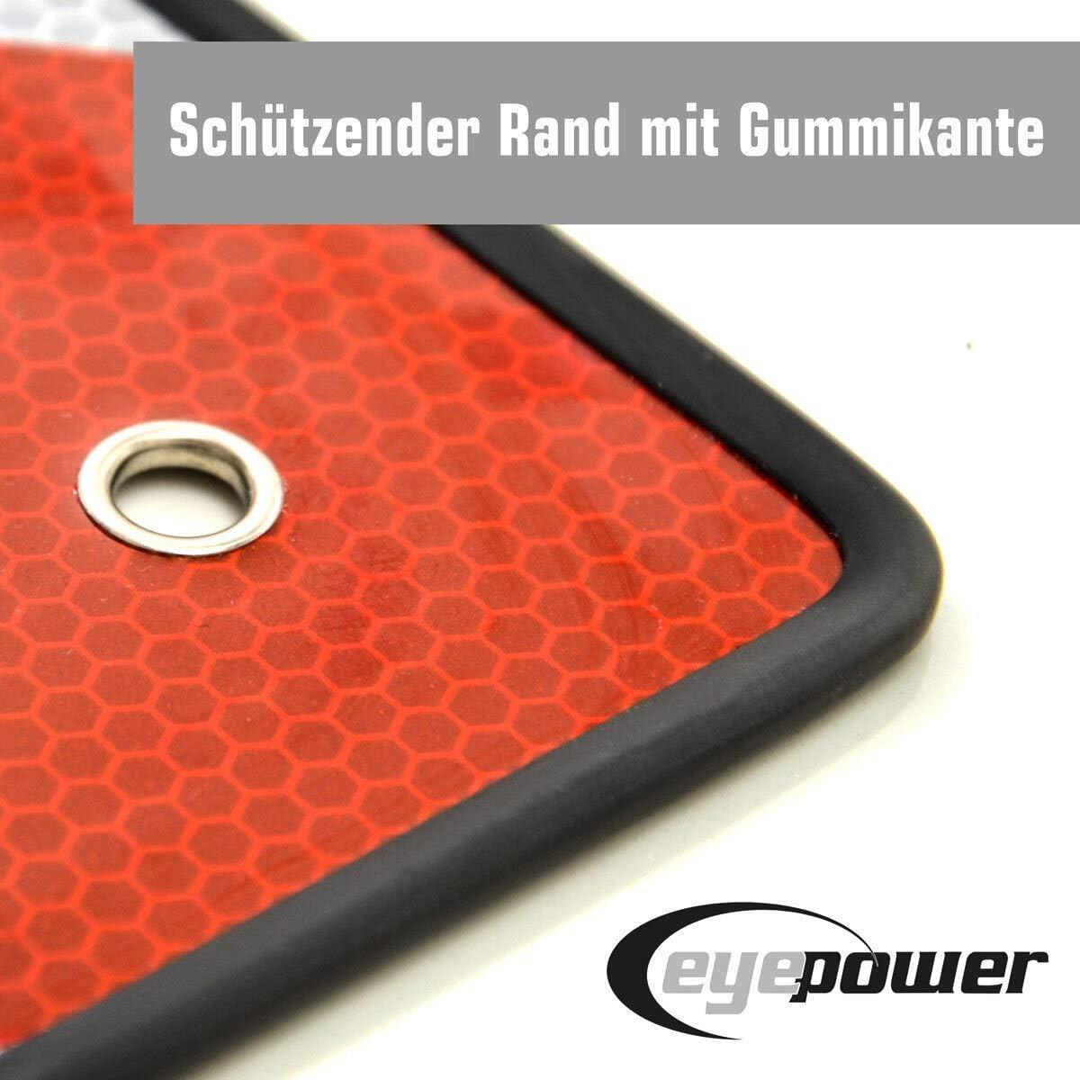 eyepower Panneau Chargement Saillant 50x50 Italie Espagne /à d/éfauts Rouge Blanc