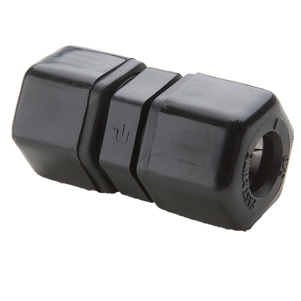 Tube to Tube Black 1//2 Pack of 10 Compression Union Polypropylene 3//8 1//2 3//8 Parker P8UC6-pk10 Plastic Fitting Fast-Tite