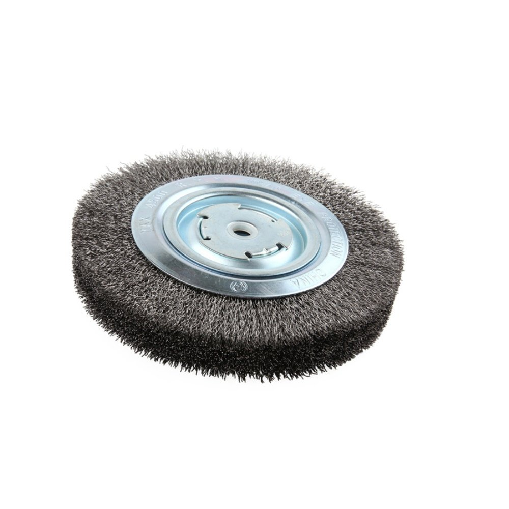 Lincoln Electric KH322 Crimped Wire Wheel Brush, 4000 rpm, 8'' Diameter x 1-1/4'' Face Width, 5/8'' x 1/2'' Arbor (Pack of 1) by Lincoln Electric