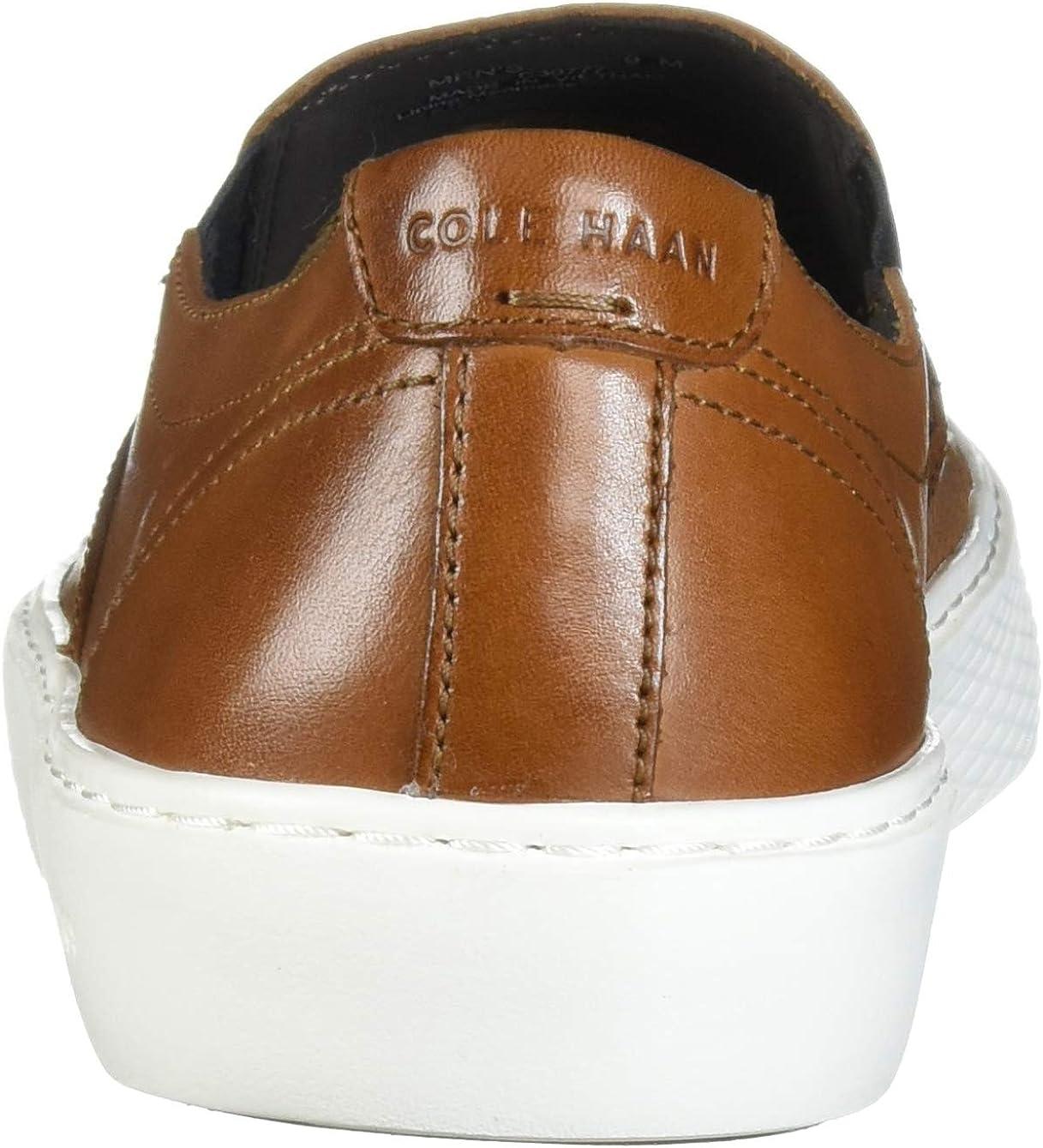 Cole Haan Men's Grandpro Deck Slip-on Sneaker British Tan Handstain Microperf