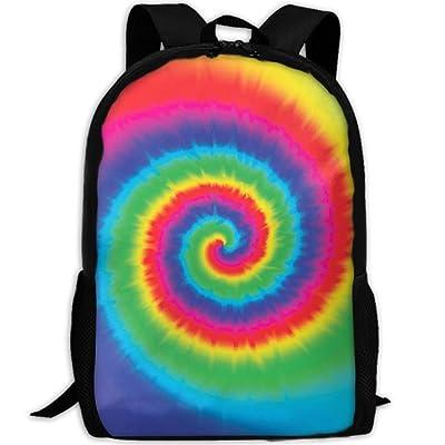 YesFutureIs Female School Bags Tie Dye Bookbag For Adult Lightweight College Bookbag