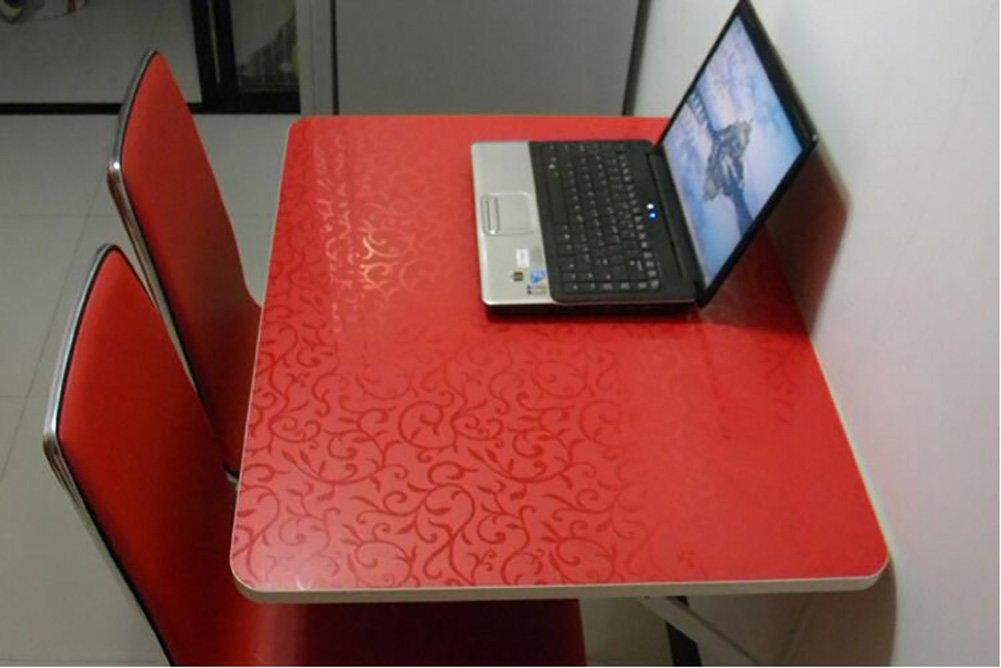 Tenture murale table pliante mural table d'appoint cuisine table à manger ordinateur bureau rouge ( taille : 80*40cm