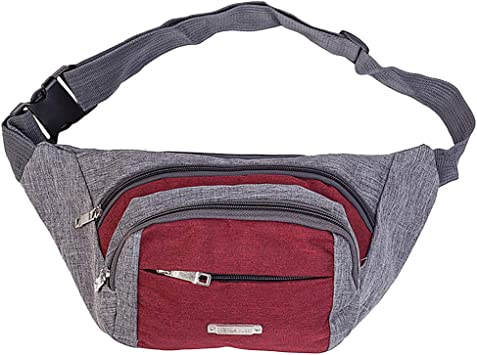 I Heart Cute Dog Paw Sport Waist Packs Fanny Pack Adjustable For Travel