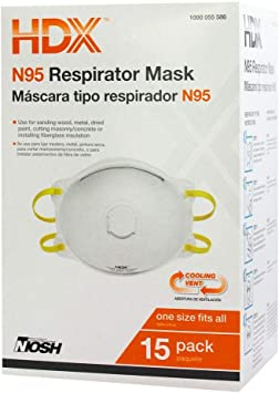 Respirator Valve 15-pack N95 Box Disposable