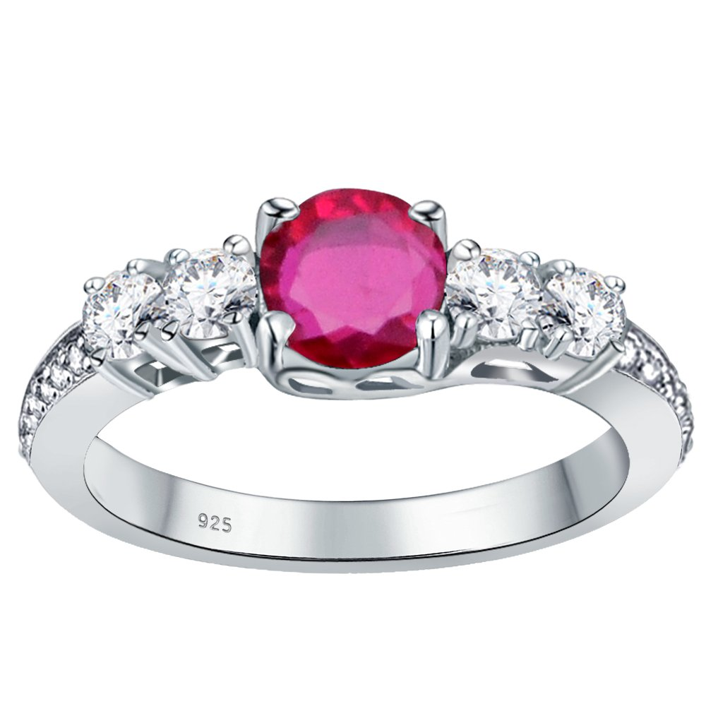 925 Sterling Silver Halo Ring For Girls Orchid Jewelry 2.85 Ctw 6mm Round Pink Sapphire Ring For Women Nickel Free Engagement Gift For Her September Birthstone gemstone jewelry