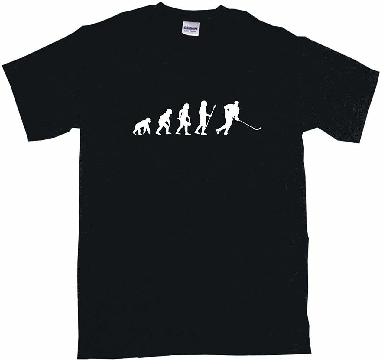 Evolution of Humans Hockey Player Logo Big Boy's Kids Tee Shirt
