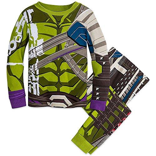 Marvel Hulk Costume PJ PALS Pajamas for Boys - Thor: Ragnarok Green