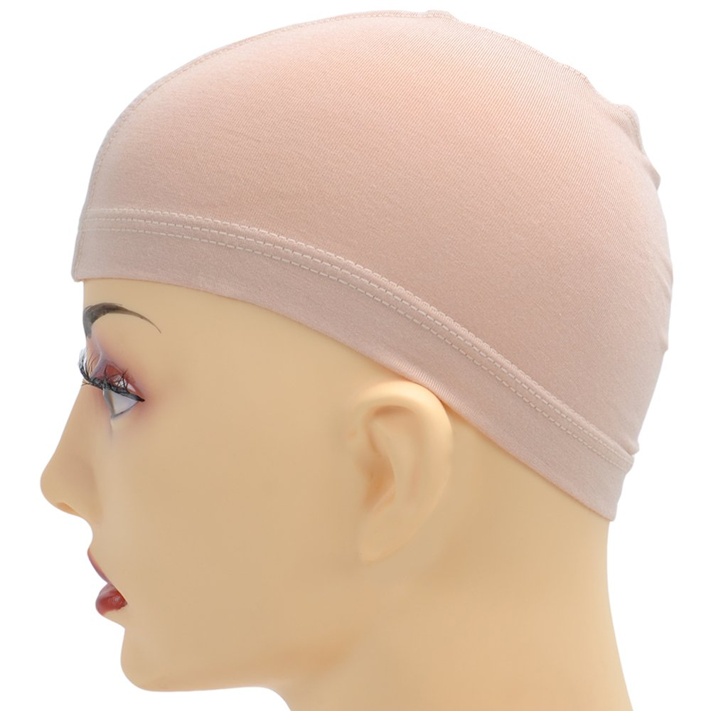 Bamboo Fiber/Sterilization/Sweat Proof/Wig Hair Stock Liner Cap Stretch Mesh Net 2PCS by BHD BEAUTY (Image #4)