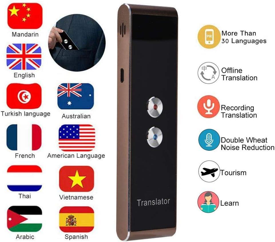 Wendry ranslator dispositivo de voz inteligente Traductor de voz dispositivo de traducción de idioma inteligente portátil de dos vías en tiempo real Traductor de voz multilingüe para aprendizaje/viaje/reunión: Amazon.es: Electrónica