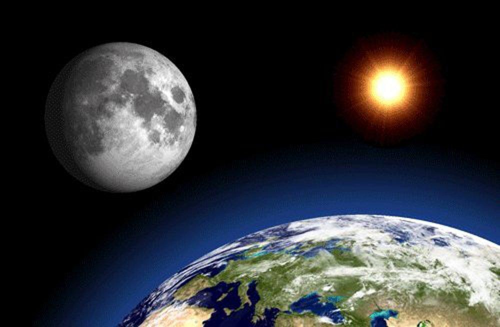 3D Linsenraster Postkarte – Erde, Mond und und Mond Sonne – 4 x 6 Grußkarte 702124