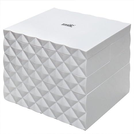 donfohy cajas de joyería, princesa cosméticos caja, cajas de joyería multicapa, multi-